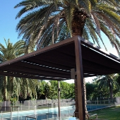 Corten steel pergola